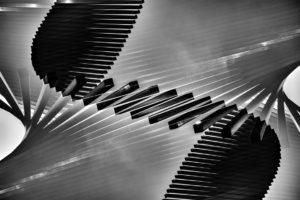 Close-Up Of Wavy Piano Keys