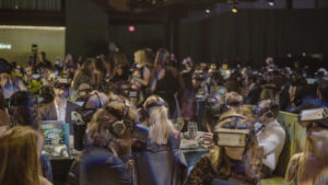 Record setting audience with WeLens wireless VR headsets (Photo Credit: Alex Suber) (PRNewsfoto/WeLens)