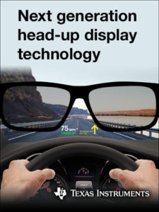 New automotive-qualified DLP3030-Q1 chipset and EVMs allow automakers and Tier-1 suppliers to create HUD systems with crisp, high-quality imagery (PRNewsfoto/Texas Instruments Incorporated)
