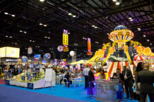 Attendees check out the offerings on the Trade Floor at the IAAPA Attractions Expo 2016 in Orlando at the Orange County Convention Center. (Photo by courtesy of Robert Niles)