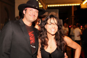 """Director Robert Rodriguez and Actress Michelle Rodriguez attend the Austin Screening of """"Machete"""" at The Paramount Theater on September 2, 2010 in Austin, Texas."""